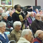 Audience at Spring 2013 meeting of Michiana Anabaptist Historians, Goshen, IN.