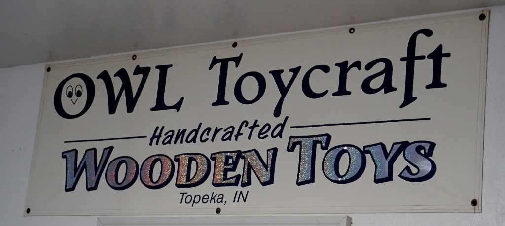 sign of Owl Toycraft Handcrafted Wooden Toys Topeka IN