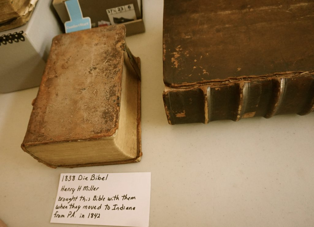1838 Die Bibel Henry H Miller brought this Bible with them when they moved to Indiana from PA in 1842
